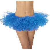 Adult Royal Blue Organza Tutu