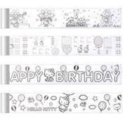Hello Kitty Mini Coloring Banners 4 Sheets