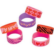 Valentines Day Cuff Bands 6ct
