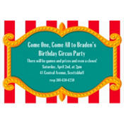Big Top Custom Invitation