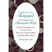 Sophisticated Dots Custom Invitation