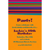 Birthday Stripe Custom Invitation