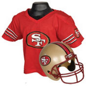 San Francisco 49ers Helmet Jersey Set