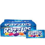 Razzles Candy Gum Large Packets 24ct