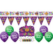 Mardi Gras Party Decorating Kit 10ct