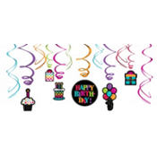Party On Swirl Decoration 12ct