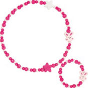 Bunny Necklace and Bracelet Set 2pc