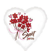 Foil Sweet Love Valentines Day Balloon 18in