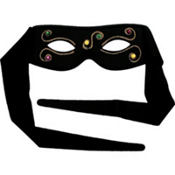 Black Jeweled Masquerade Eye Mask