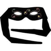Black Jeweled Masquerade Eye Mask