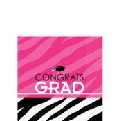 Zebra Party Graduation Beverage Napkins 16ct