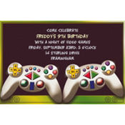 Video Game Custom Invitation