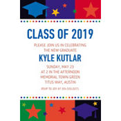 Bright Grad Custom Invitation