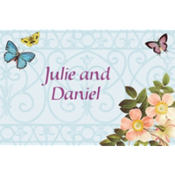 Butterfly Dreams Custom Thank You Note