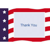 All American Welcome Home Custom Thank You Note