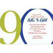 Great Big 90th Custom Invitation