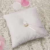Modern Lace Ring Bearer Pillow