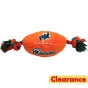 Miami Dolphins NFL Football Dog Toy