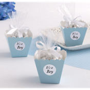 Blue Popcorn Box Baby Shower Favor Kit 25ct