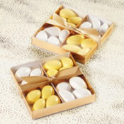 Gold Wedding Favor Compartment Box Kit 20ct