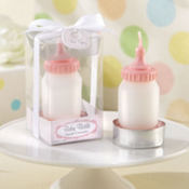 Pink Baby Bottle Candle Baby Shower Favor