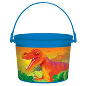 Prehistoric Dinosaurs Favor Container 4in