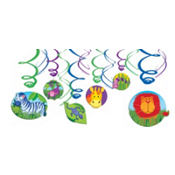 Jungle Animals Swirl Decorations 12ct