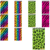 Zebra and Cheetah Notepads 48ct