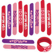 Valentines Day Slap Bracelets 12ct<span class=messagesale><br><b>99¢ per piece!</b></br></span>