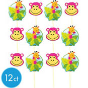 Jungle Cupcake Picks 12ct