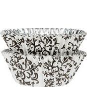Black Damask Foil Baking Cups 36ct