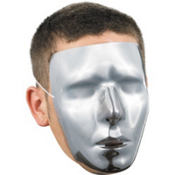 Adult Blank Chrome Mask