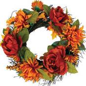 Mum and Peony Wreath