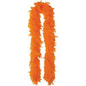 Orange Feather Boa 72in