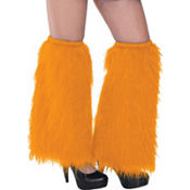 Orange Furry Leg Warmers