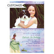 Princess and the Frog Custom Photo Invitation