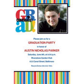 Bravo Grad Custom Photo Invitation