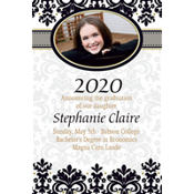 Black & White Congrats Grad Custom Photo Announcement