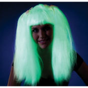 Glow In The Dark Pigtail Wig