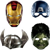 Avengers Masks 4ct