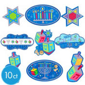 Hanukkah Mini Cutouts 10ct