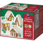 Prebaked Mini Gingerbread Village Kit