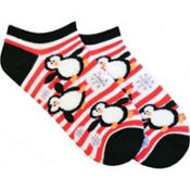 Stripes and Penguins Ankle Socks