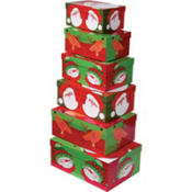 Christmas Friends Large Nesting Boxes 6ct
