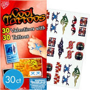 Cool Valentines Day Cards with Tattoos 30ct