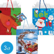 Medium Let It Snow Gift Bags 6in 3ct