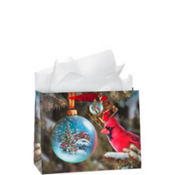 Medium Cardinal Gift Bags 7in 12ct