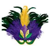 Masquerade Feather Mardi Gras Mask Deluxe