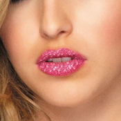 Pink Glitter Lip Tattoos