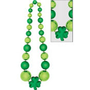 Giant Shamrock Bead Necklace 60in